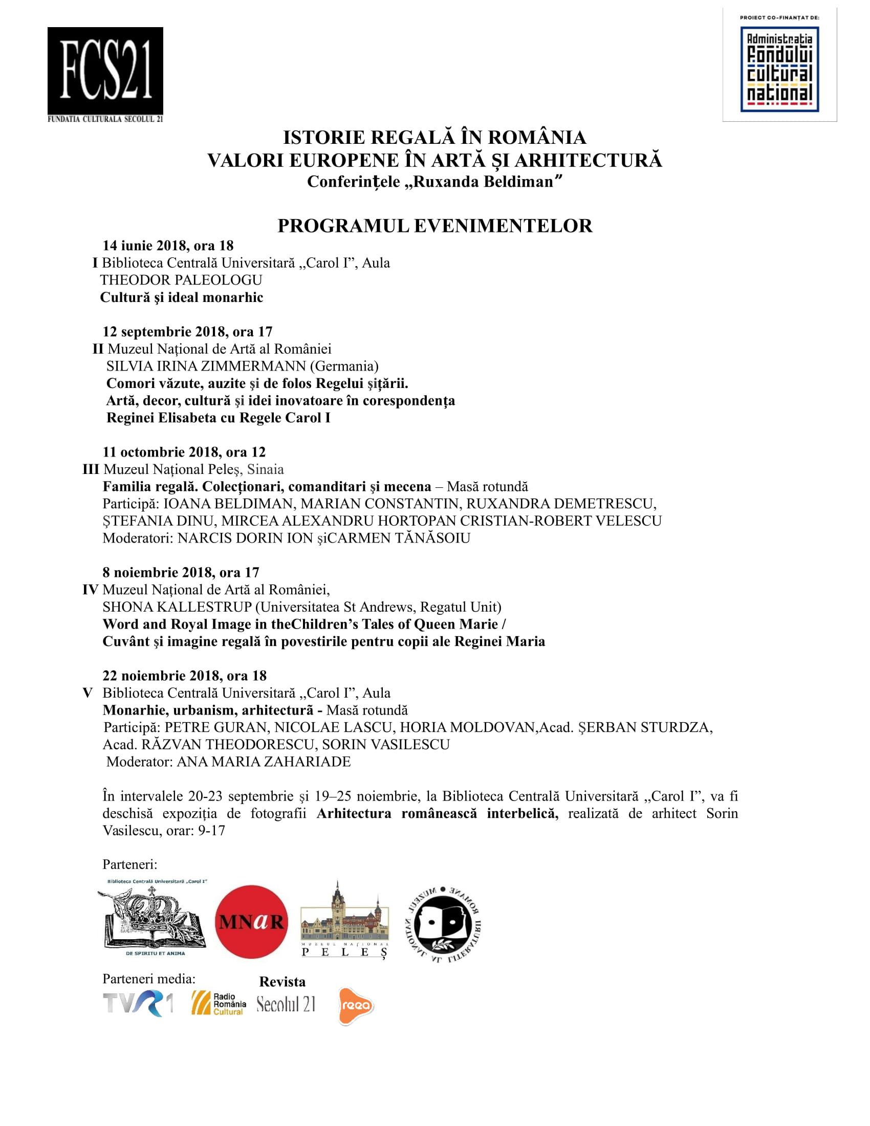 Programul evenimentelor 2