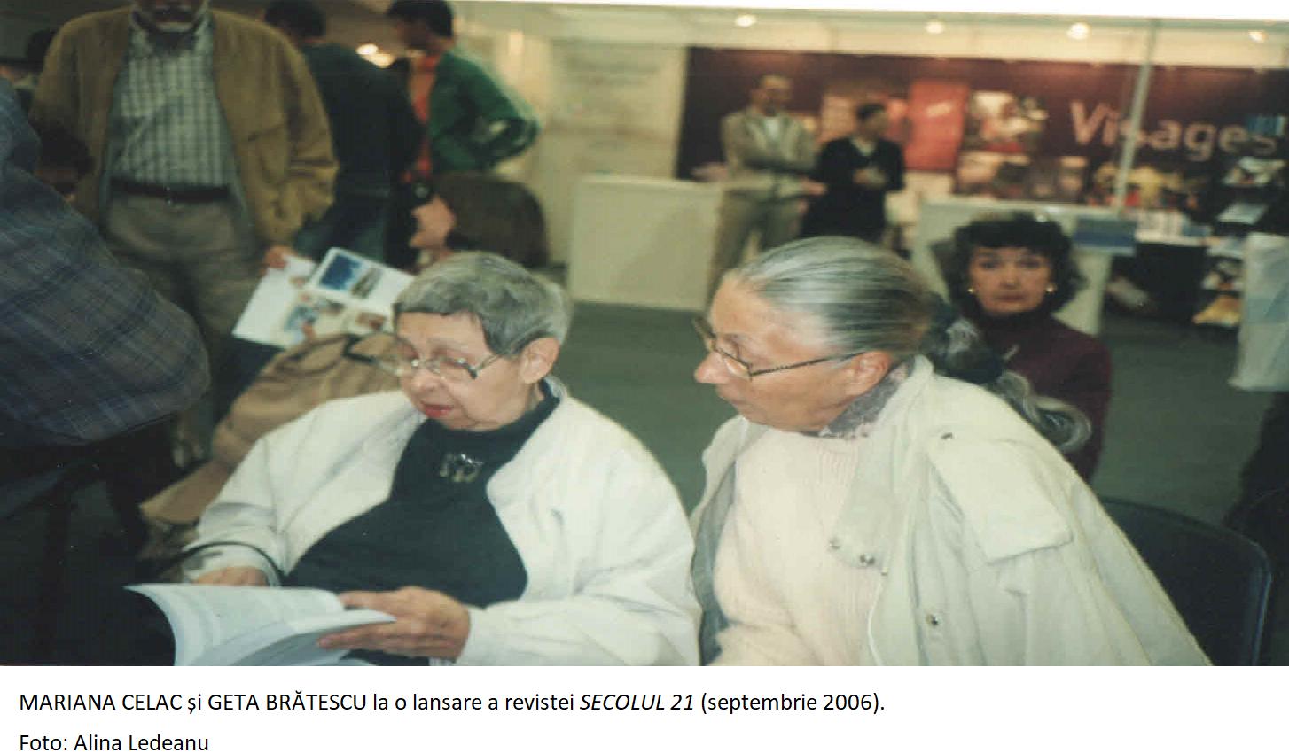 Mariana Celac si Geta Bratescu