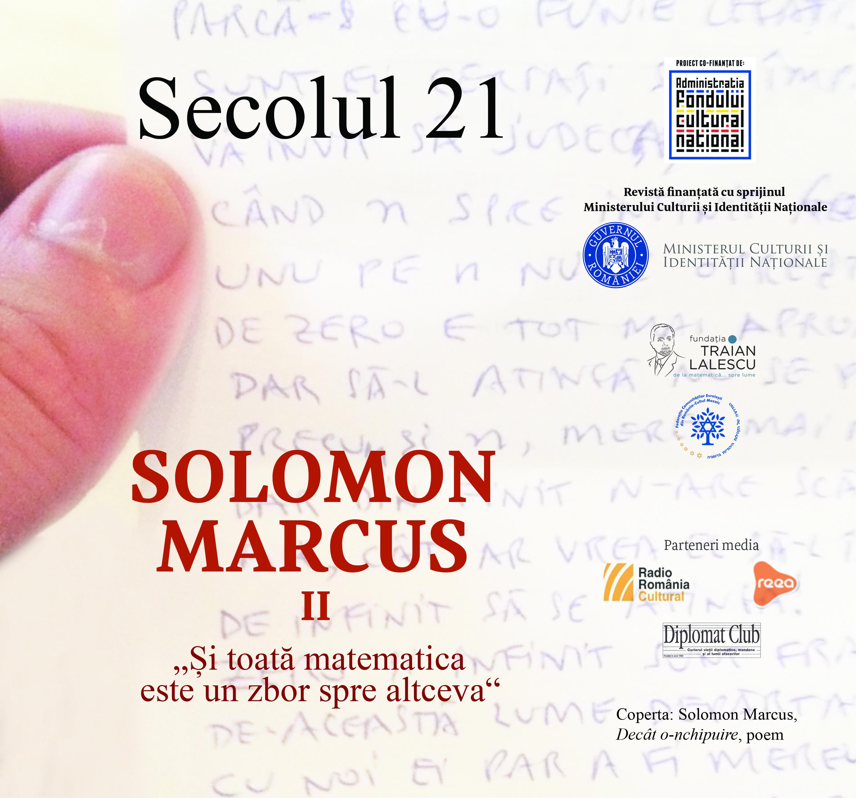 Secolul 21 - Solomon Marcu II 1-6/2018 coperta 1
