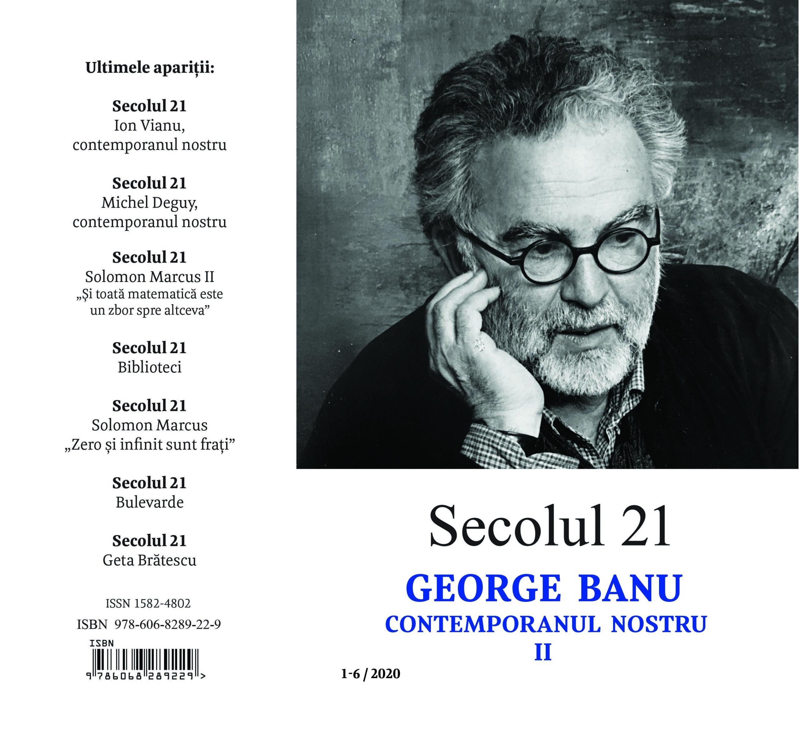 Secolul 21 - GEORGE BANU I 7-12/2019 coperta 4
